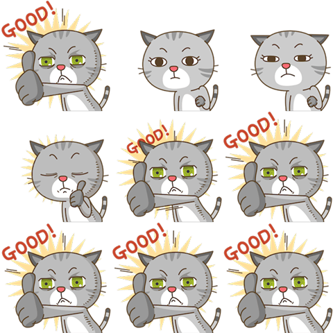 The Spritesheet of a creepy cat